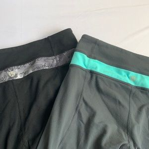 Set of 2 Lululemon Capri Pants Sz 4